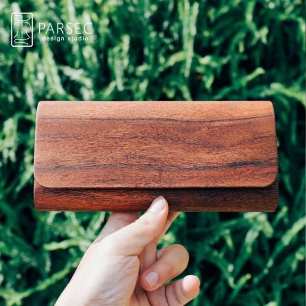 PARSEC|樹革花檀長夾 環保皮革,素食皮革,樹木,自然,手工,台灣製,環境友善