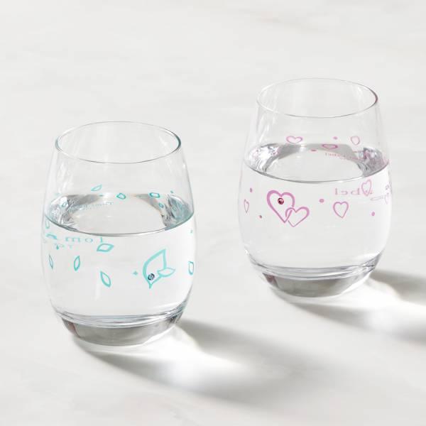 日本富硝子 - 變色水鑽圓水杯 - 心動對杯組 (2件式) - 禮盒組 (240ml) 日本,玻璃,玻璃杯,飲料杯,酒杯,啤酒杯