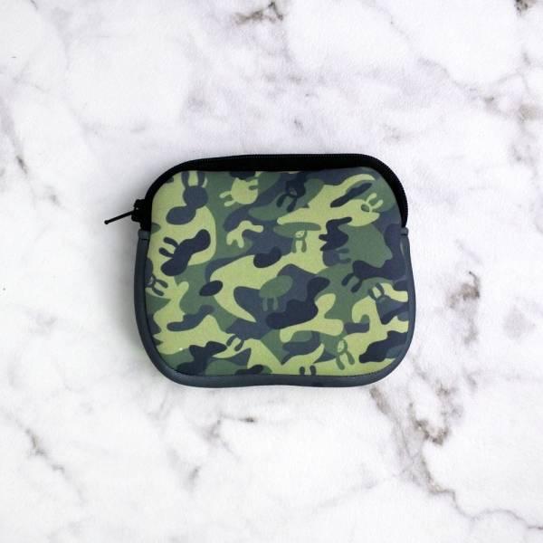 剪刀兔本鋪–潛水布零錢包–迷彩精靈  收納小包、雜物包、可愛童趣