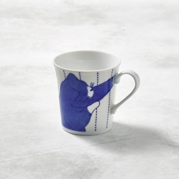 日本澤藍美濃燒 - 黑貓君馬克杯 陶杯,日本製,食器,手工,檢驗合格,貓