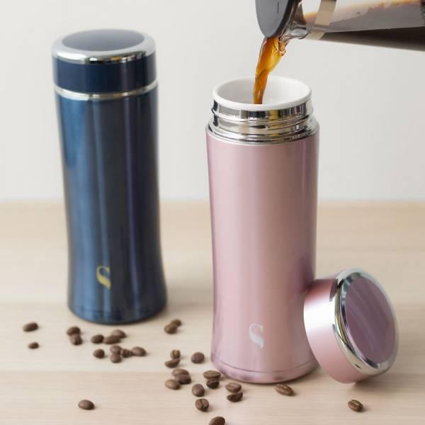 SWANZ|粹鍊陶瓷保溫杯升級版(2色) - 380ml - 雙件優惠組(國際品牌/品質保證) 不怕異味殘留,真空雙層,陶瓷保溫杯,保溫,保冷,安全無毒,陶瓷內膽