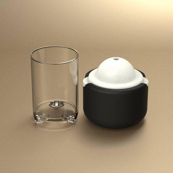POLAR ICE 極地冰球品酌組 - (單個冰球+杯兩件組) 杯子、酒杯、玻璃杯、三足品飲杯