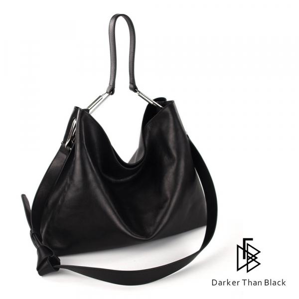 DTB|Valley 單肩HOBO包 - 黑 肩背,手提,多用,設計大獎,中性,經典,優雅,真皮,原創,設計師,台灣設計,皮革,輕軟,質感,