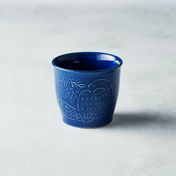 石丸波佐見燒 - 森之歌陶杯 - 湛藍 日本,職人,手製,手做,手作,波佐見燒,人氣,禮品,禮物,療癒,食器,餐具,盤,原裝,收藏,質感
