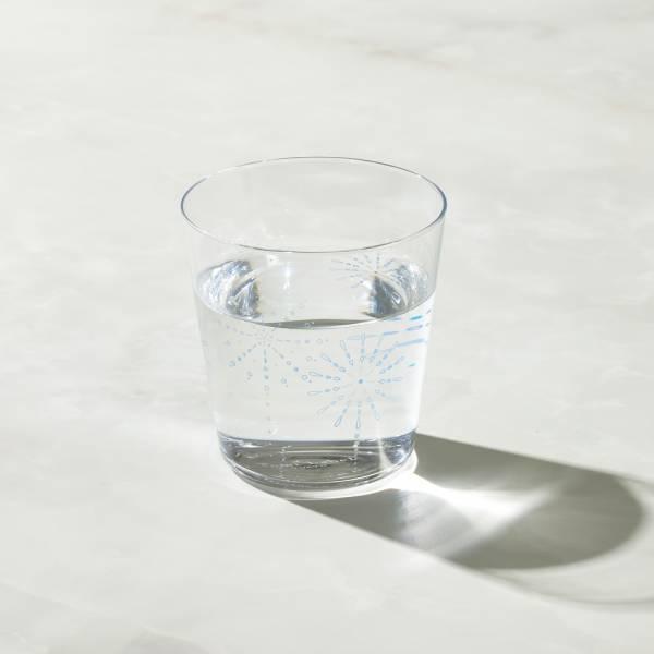 日本富硝子 - 變色寬口水杯 - 仲夏花火 (300ml) 日本,玻璃,玻璃杯,飲料杯,水杯