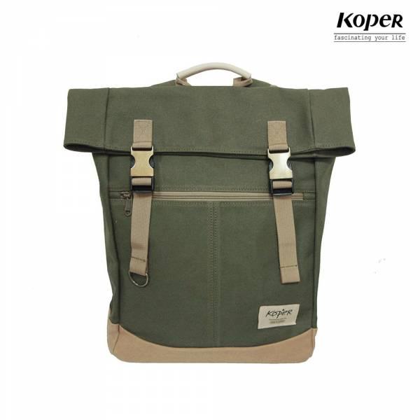 KOPER  不平帆系列-復古雙釦後背包-軍綠 後背包、台灣設計製造