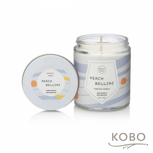 KOBO 美國大豆精油蠟燭 - 蜜桃貝里尼 (170g/可燃燒 35hr) 精油蠟燭,蠟燭,美國,香氛,天然,手工,旅行