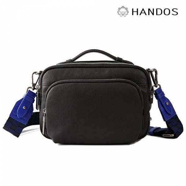HANDOS|Filter 水洗皮革經典相機包 - 霧黑 真皮,設計師,台灣設計,訂製五金,植鞣皮革