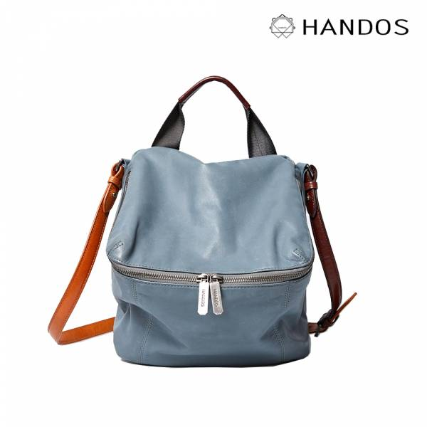 HANDOS|New Pimm's 輕便羊皮休閒肩背包 - 月光石藍 真皮,設計師,台灣設計,訂製五金,植鞣皮革