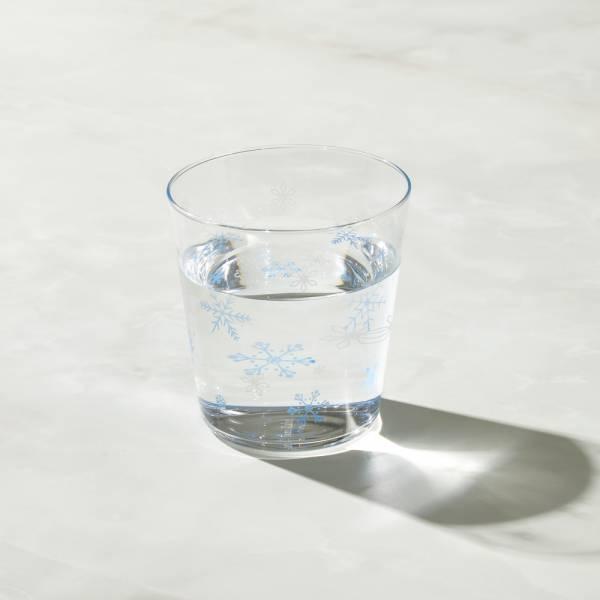 日本富硝子 - 變色寬口水杯 - 冬日雪花 (300ml) 日本,玻璃,玻璃杯,飲料杯,水杯