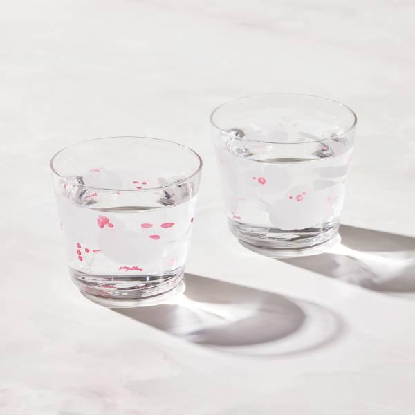 日本富硝子 - 變色自由杯 - 幸福白文鳥 - 雙件組 (220ml)  日本,玻璃,玻璃杯,飲料杯