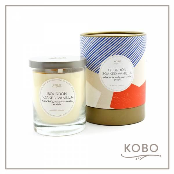 KOBO 美國大豆精油蠟燭 - 香草威士忌 (330g/可燃燒80hr) 精油蠟燭、蠟燭