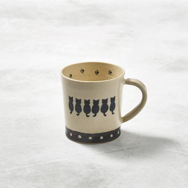 日本設計師系列 - 緣起貓直筒馬克杯 - 240 ml 手繪,手作,職人,日本製,陶器,食器