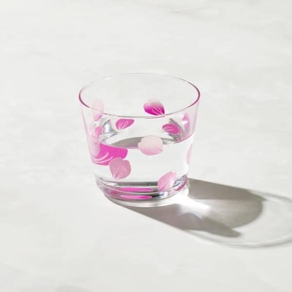 日本富硝子 - 變色自由杯 - 吉野櫻花雨 (220ml) 日本,玻璃,玻璃杯,飲料杯,酒杯