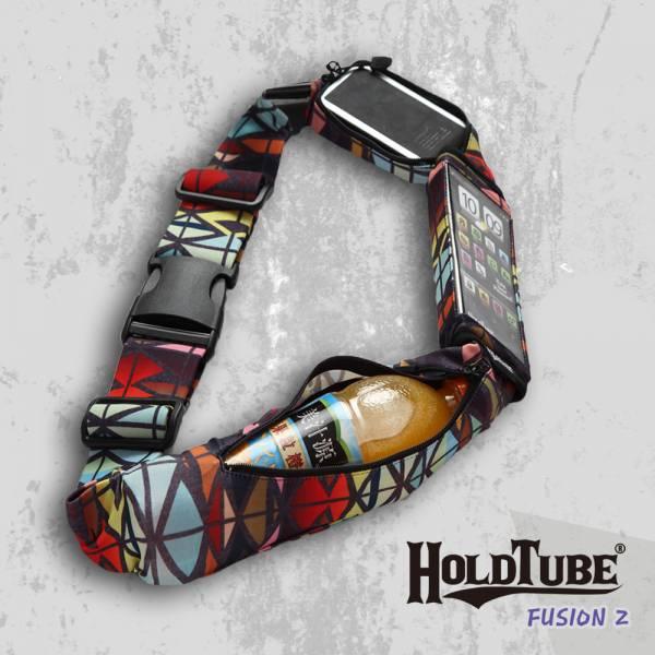 HOLDTUBE 運動腰帶-三口袋(可拆手機袋)-未來時光 運動腰帶、水瓶袋、時尚單品、運動配件