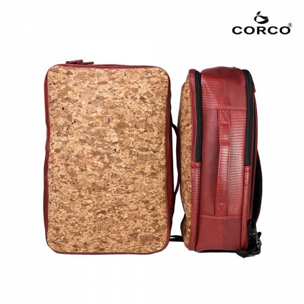 CORCO 軟木雙肩兩用後背包 - 棗紅 軟木,韓國,環保
