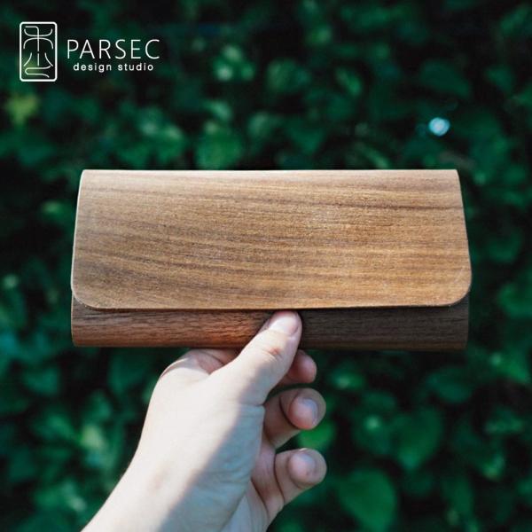 PARSEC|樹革胡桃長夾 環保皮革,素食皮革,樹木,自然,手工,台灣製,環境友善