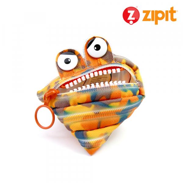 (5折出清)-Zipit 怪獸拉鍊包迷彩系列(小)-迷彩橘 怪獸拉鍊包、零錢包