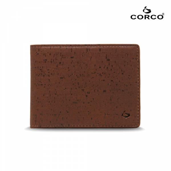CORCO 簡約軟木短夾 - 酷深棕 軟木,韓國,環保