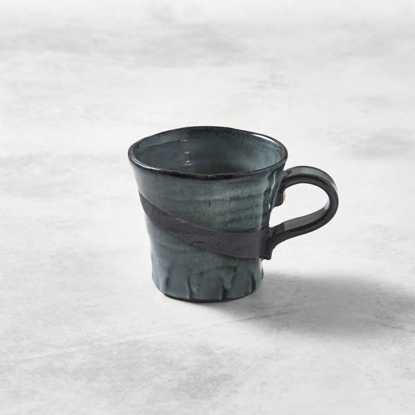 日本KOYO美濃燒- 寬口茶杯 - 燻刷痕 ★ 日本進口品質保證,檢驗合格餐具