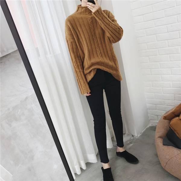 基礎款褲管簡邊鋪棉小黑褲【7123DD】#1221