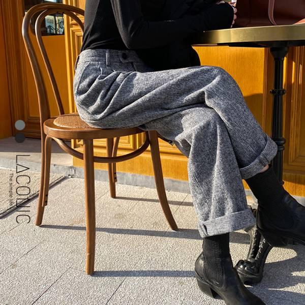初戀般可愛。騎士風範羊毛料西裝褲【102BG】