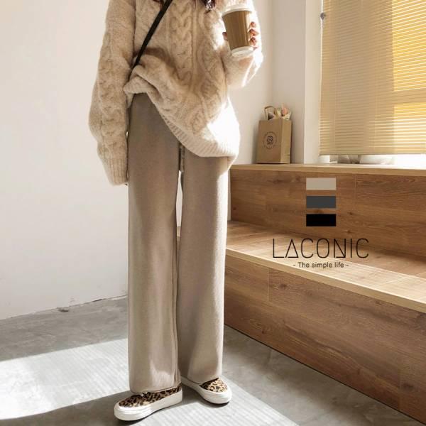 暖,夜燭金風。零束縛舒適針織休閒褲【045BG】
