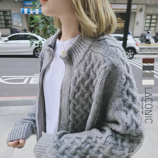 白晝暖日。奶奶毛線球針織外套【043AJ】