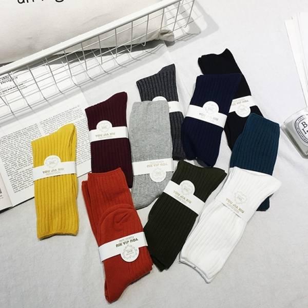 色彩飽和中筒針織襪【809FA】#0301