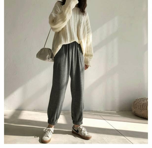 憶,復古情 。運動女孩暖暖微刷毛棉褲【947BE】