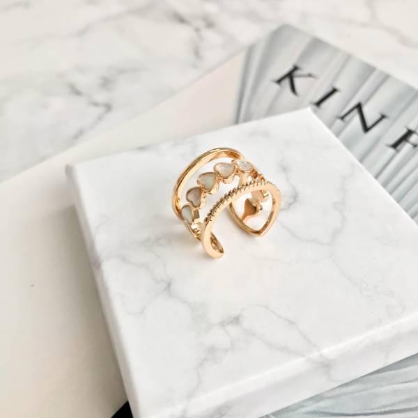 法式親吻寬版戒指【834RE】