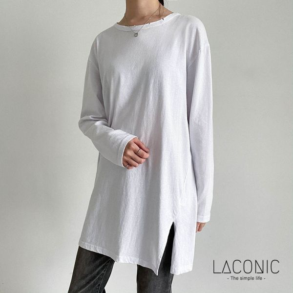 雲海,透光 。韓國顯瘦休閒內搭純棉上衣【6094AF】