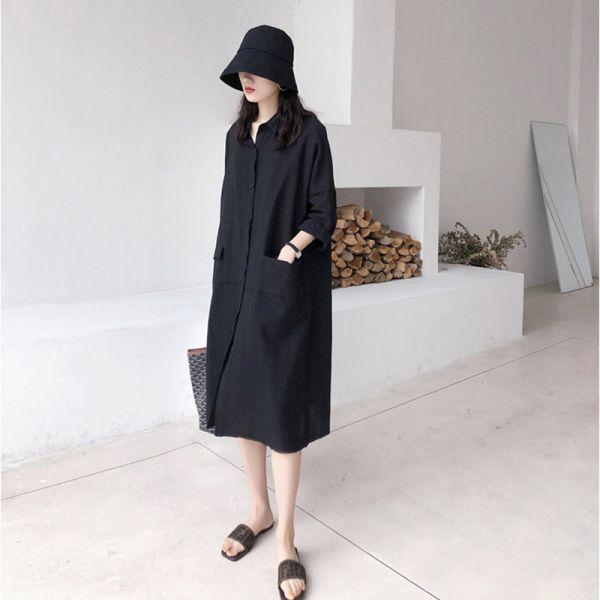 致,極簡生活。日系女孩2-way棉麻洋裝【031CA】