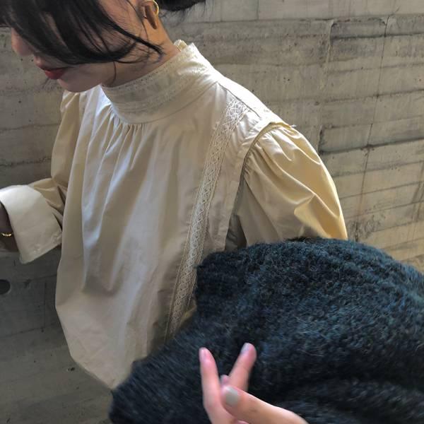 祭,秋榖收 。華麗宮廷雕花襯衫上衣【940AO】