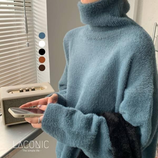 呢呢,燭光曲。鬆軟小毛球高領毛海毛衣【050AI】