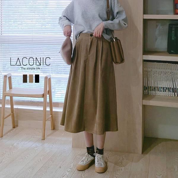 綿綿雲朵海。復古學院燈芯絨傘狀半身裙【042BB】