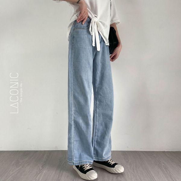 踢踏,郊遊趣 。懶日子拖地高腰牛仔褲【014BD】