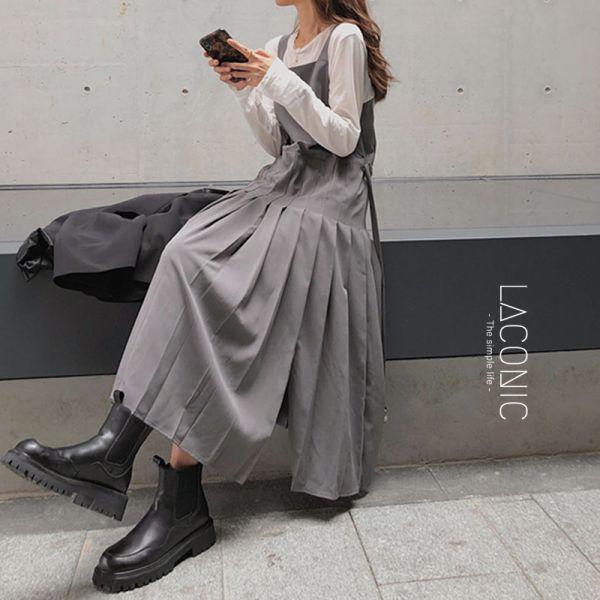 念念,唸唸,密語。甜美少女重工百褶吊帶裙【138CC】