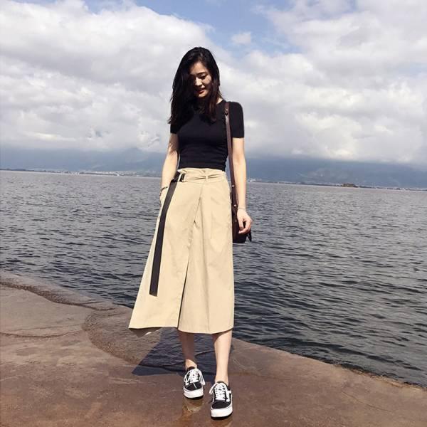 迷途,航道 。氣質小女神休閒套裝(衣+裙)【011SB】