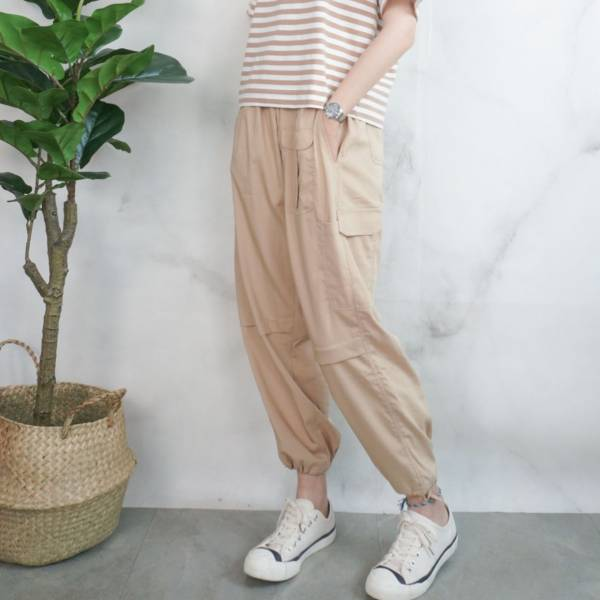 一褲兩穿休閒輕薄長褲【923SA】