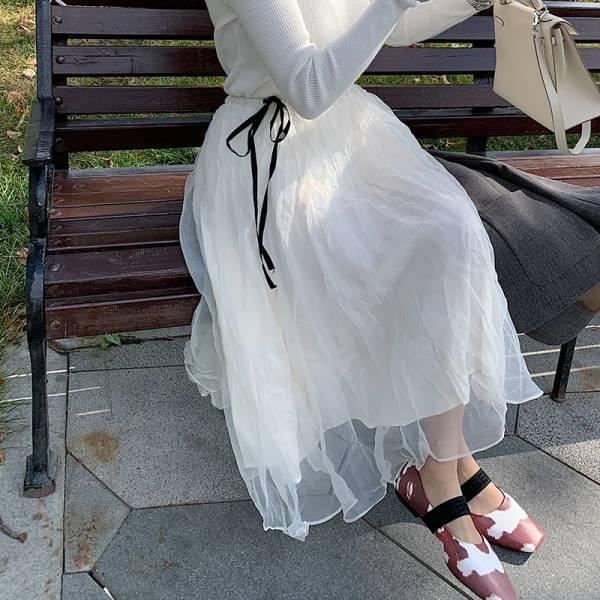 祭,秋榖收 。仙仙女神層次蕾絲紗裙【940BE】