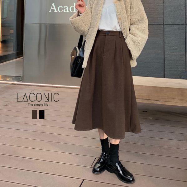 轉,留聲機。復古小典雅羊毛料傘狀半身裙【046BA】