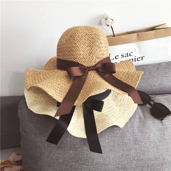 浪漫沙灘荷葉編織草帽【817RA】