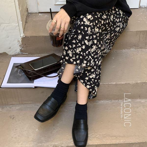 念念,唸唸,密語。學院少女方頭皮鞋【138FB】