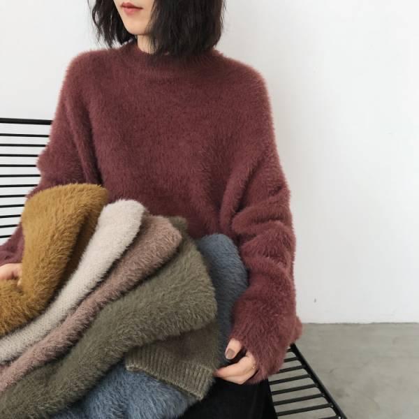 歡,嘉年華 。舊色小毛球針織毛衣【941AH】
