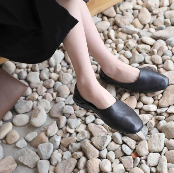 質感純色小牛皮懶人鞋【812FA】#0322
