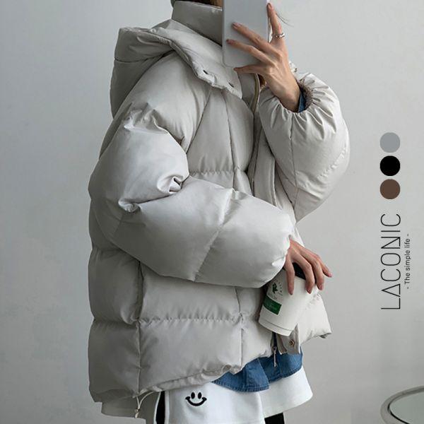 初雪,映白地。小雪人突擊立領羽絨外套【101AO】