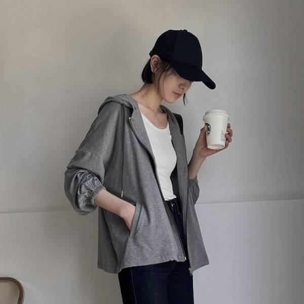 熹微,晨光乍。日系女孩休閒連帽外套【032AF】