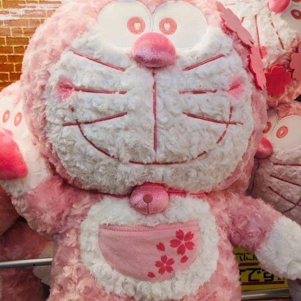 日本絕版 超大50cm 櫻花多啦a夢玩偶