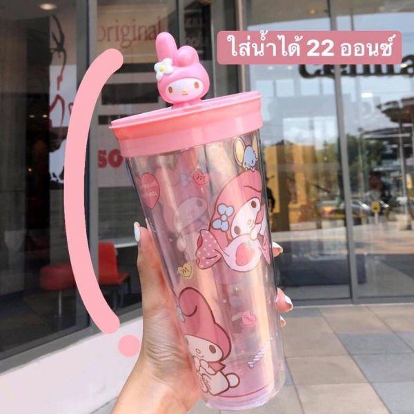 泰國限量版 美樂蒂水杯/Kitty杯套/大耳狗杯套